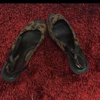 Charles & Keith Leopard Heels #jatuhharga
