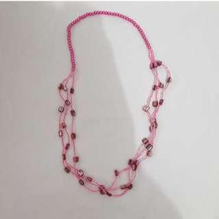 💞Dark Pink Necklace - Kalung Pink