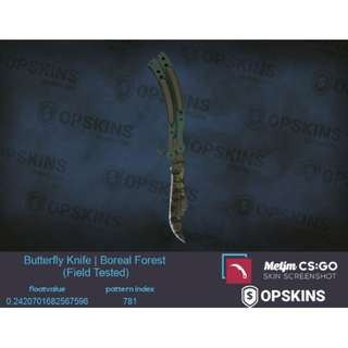 Butterfly Knife Boreal Forest FT