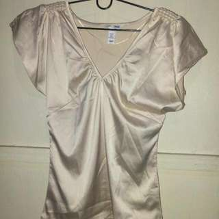 H&M Caramel Satin Top