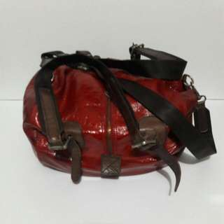 Marni Patent Leather Two Way  Bowler's Bag