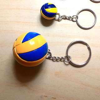 Volleyball keychain