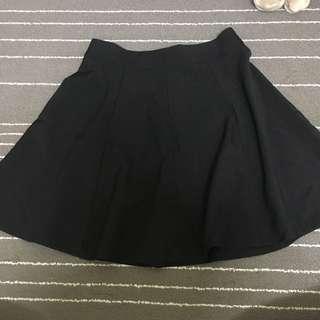 全新韓版黑色高腰裙