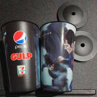 BUY 1 TAKE 1 BATMAN VS SUPERMAN TUMBLERS WITH LID FOR STRAW