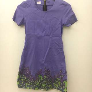 DISKON 50% Embroidery Light Purple Dress