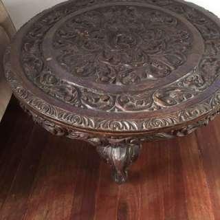 Rose Carved Narra Center Table