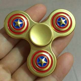3 Tiers Design For Captain America Aluminium Alloy Fidget Spinner