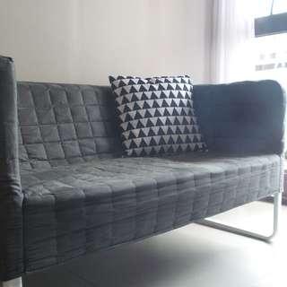 2nd Hand IKEA Knopparp 2-seat Sofa, Grey