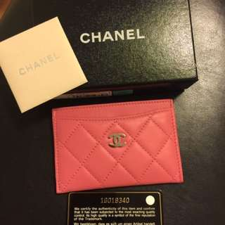 Chanel leather Cardholders in Pink
