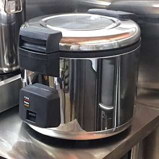 8L Commercial Electric Rice Cooker/Warmer with Hinge Cover