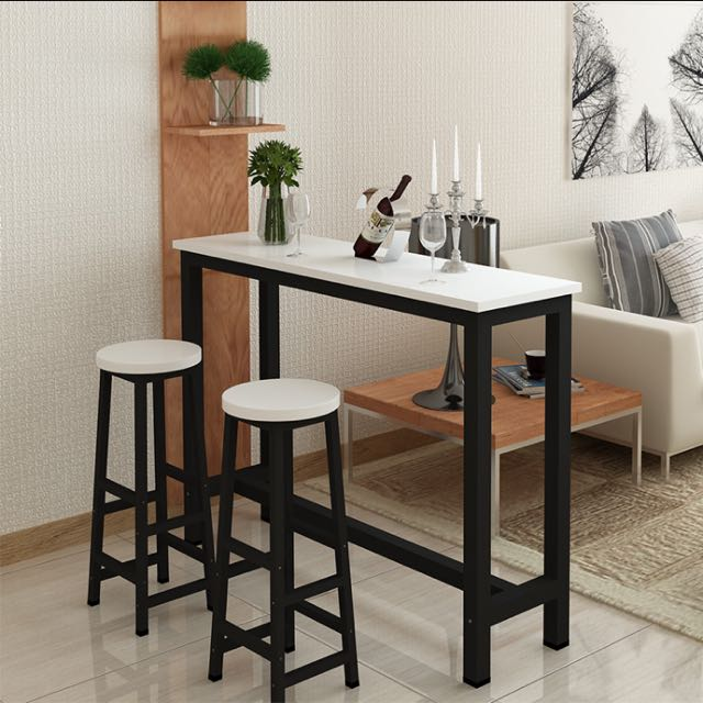 2 1 Wine Bar Table Set Breakfast Study High Table Stool Furniture