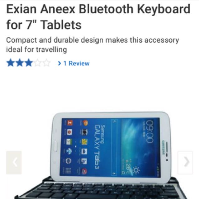 "Reduced: 7"" Tablet Bluetooth Keyboard (Perfect For iPad Mini)"