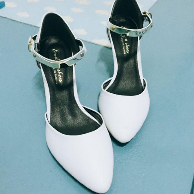高根鞋✨金屬踝釦尖頭細跟#五百元好女鞋