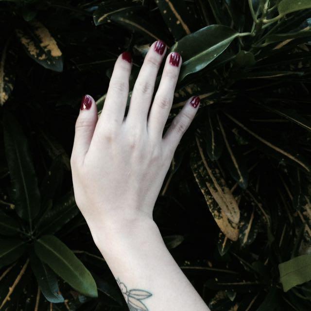指甲修型+光療