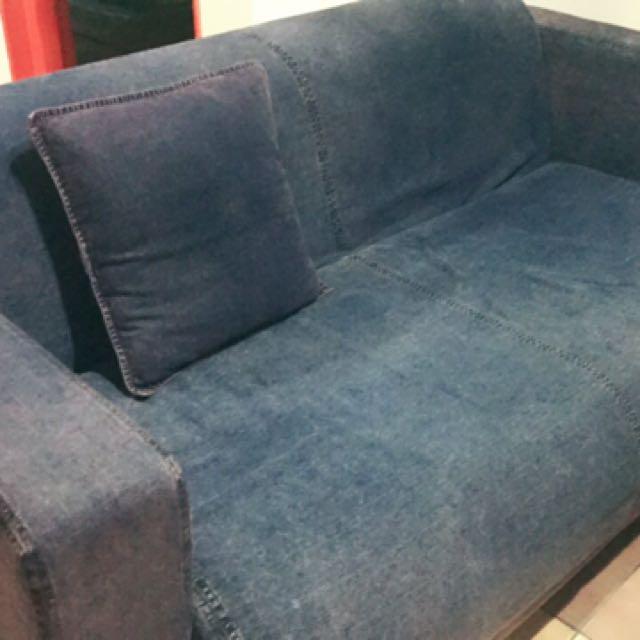 🎊急售進口加大二人布沙發
