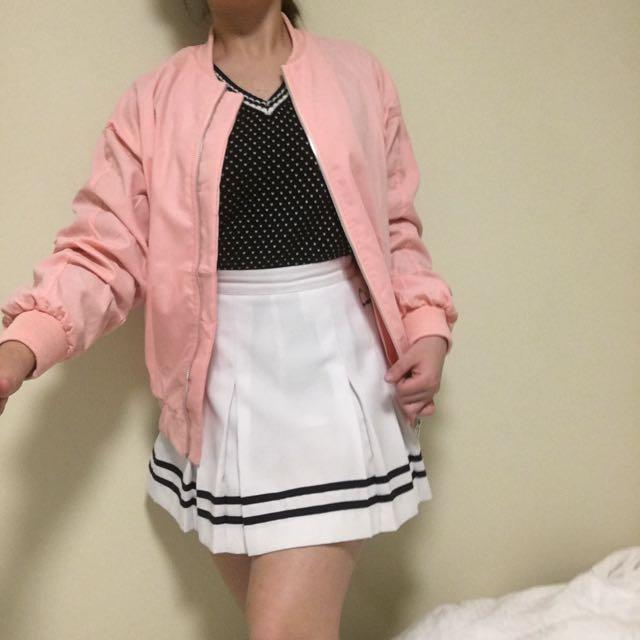 💕 pink bomber jacket