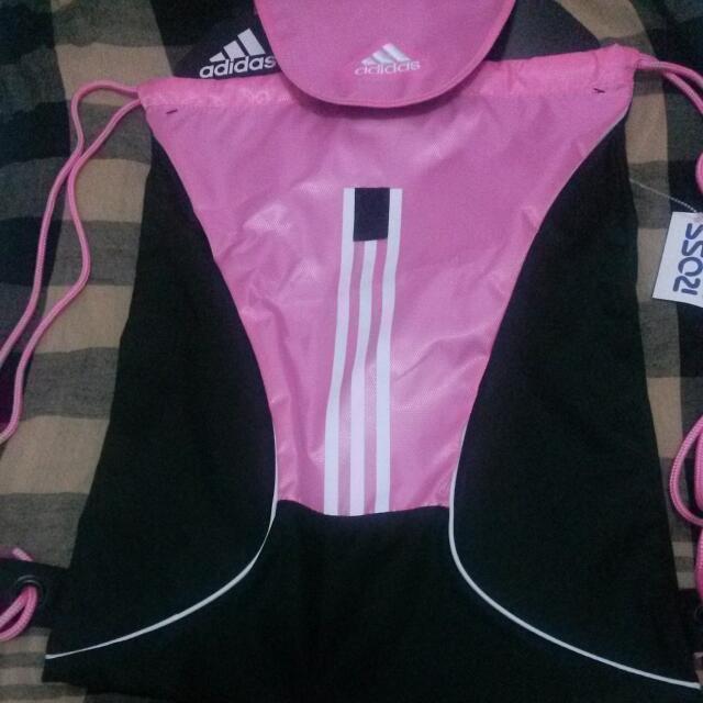 Adidas Drawstring Bag Pink Original