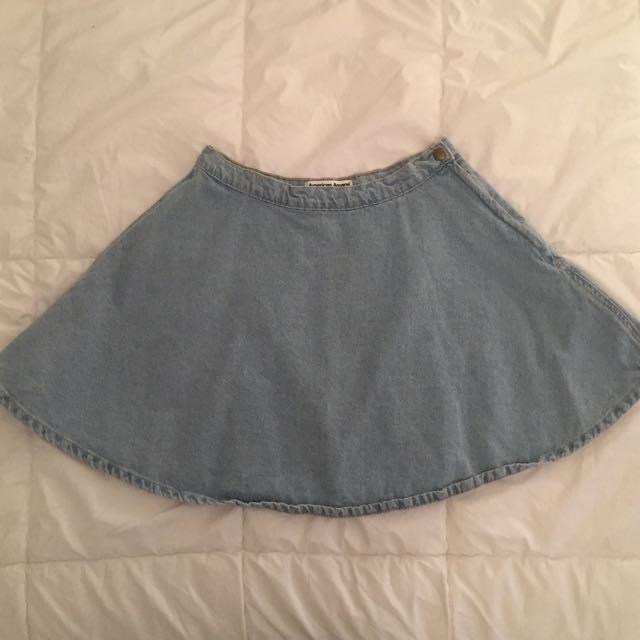 American Apparel Light Denim Circle Skirt Medium