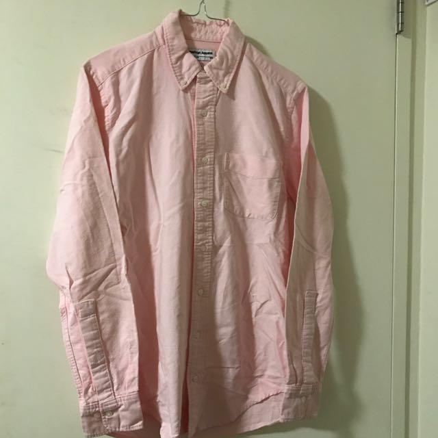 American Apparel Pink Button Shirt