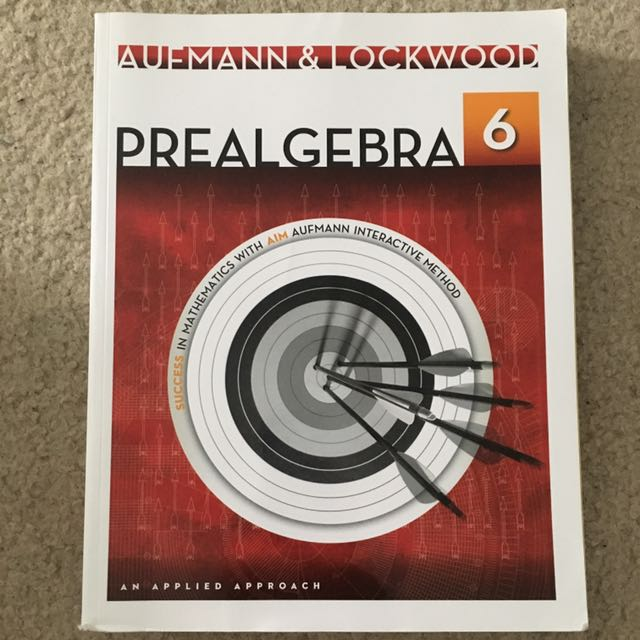 Auffmann & Lockwood Prealgebra  6th Edition