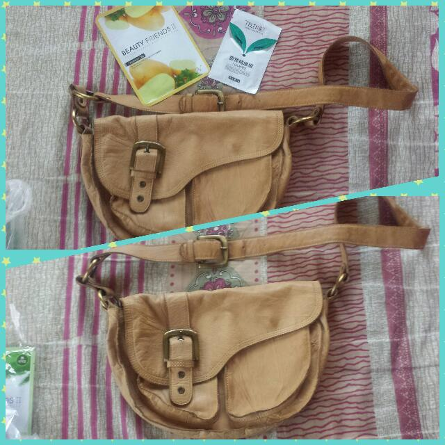 Authentic STARK genuine Leather Sling Bag
