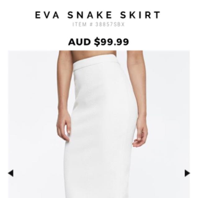 Bardot Eva Snake Bodice And Skirt