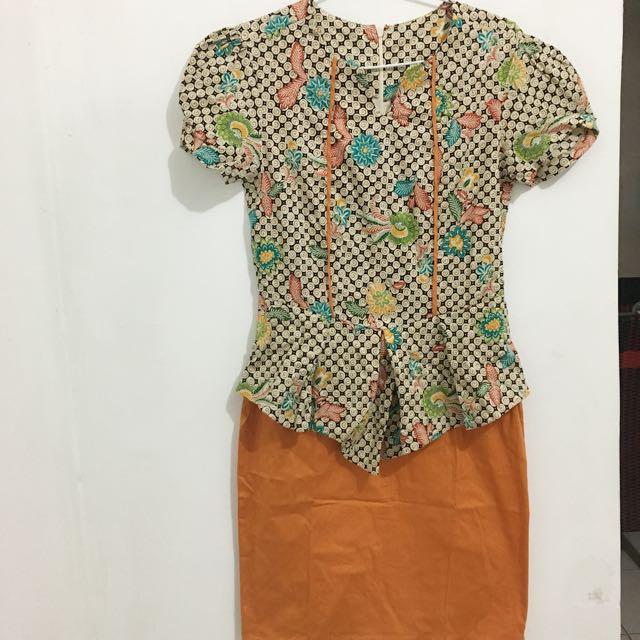 Batik Dress Orange