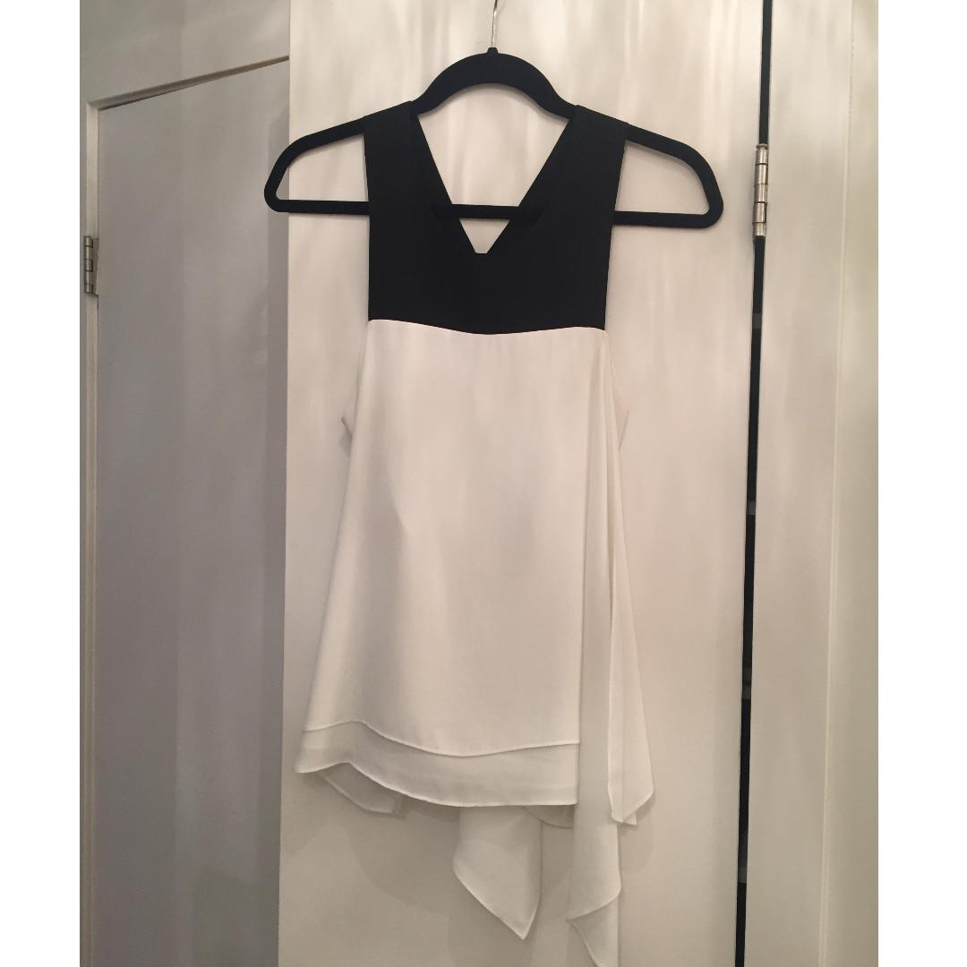 BCBG Maxazria - Black and White Blouse - Size S