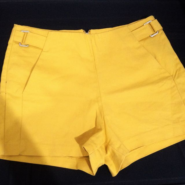 BERSHKA YELLOW SHORT