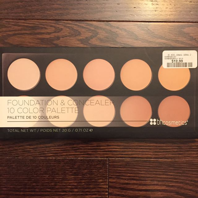 BH COMETICS | Foundation & Concealer 10 Colour Palette