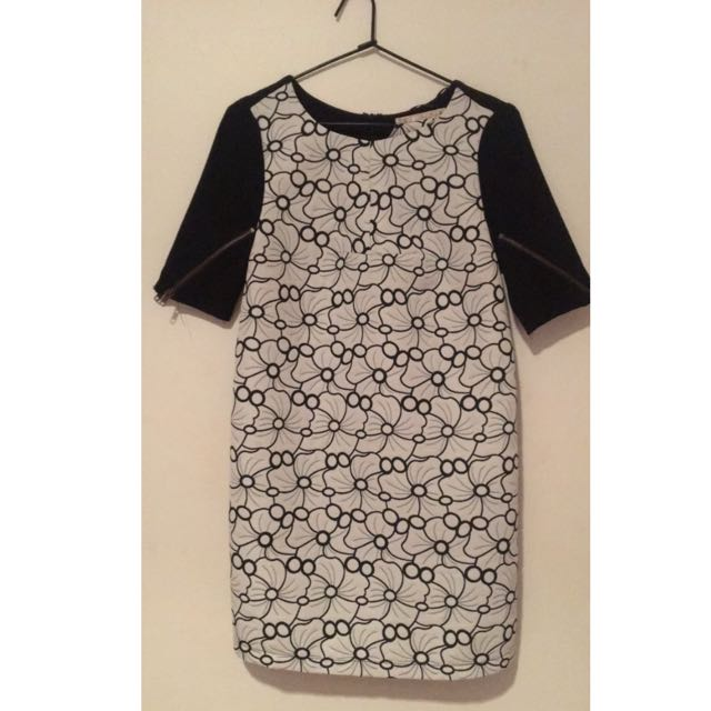 Black And White Pattern Dress