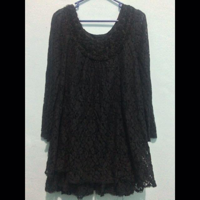 Black Dress Brokat