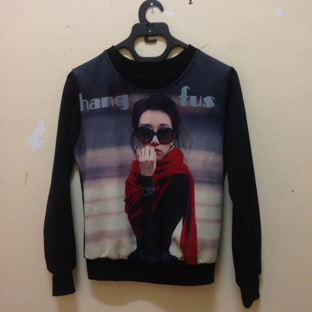 Black Printed Sweater