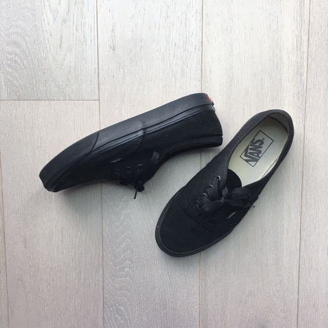 Black Vans Authentic US7.5