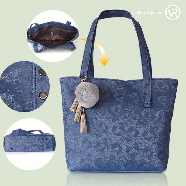 Blue Branded Bag