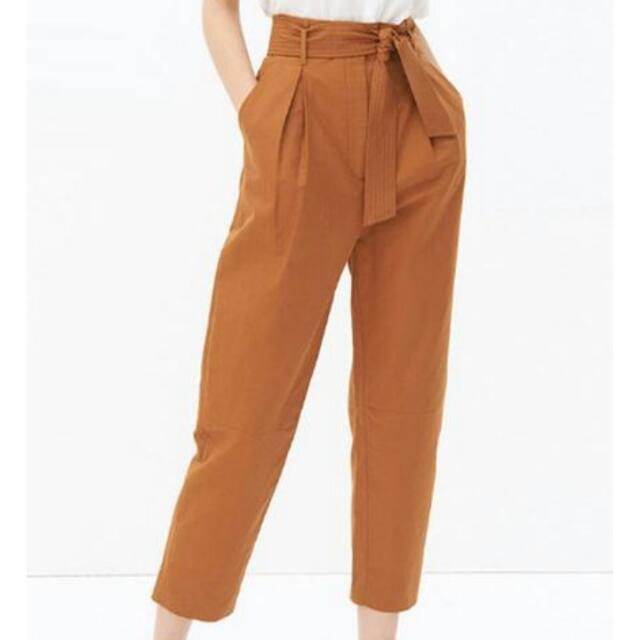 Camel Crop High Waisted Pants