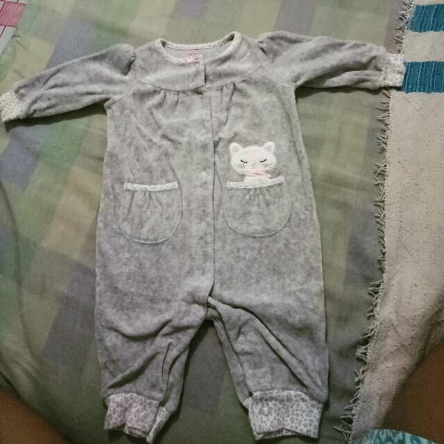 carters romper cat
