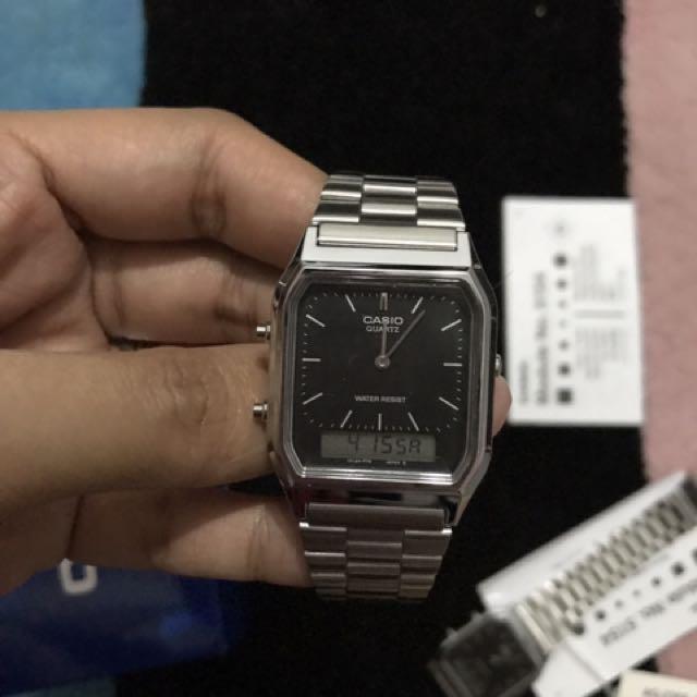 fc65b45f5a9 Casio Silver Black Vintage (Unisex)