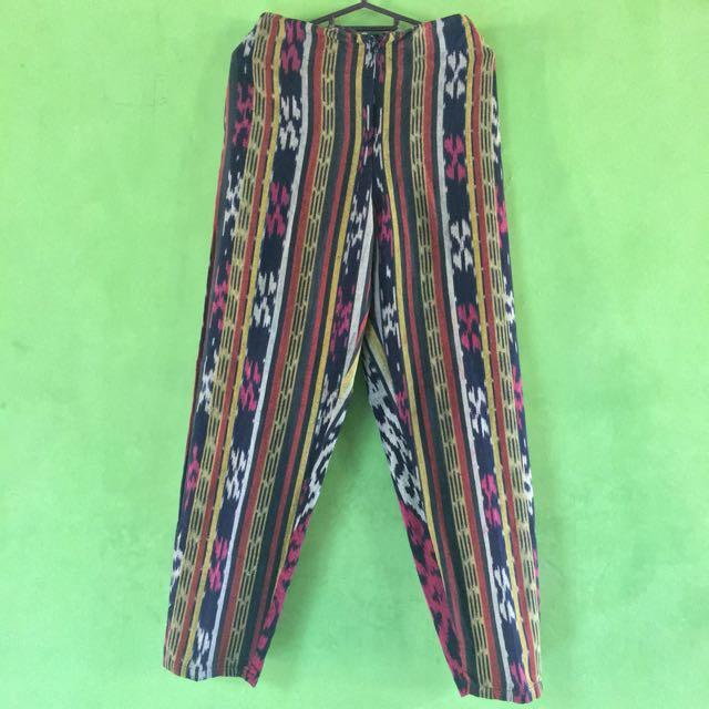 Celana Panjang Bahan Tenun Lombok