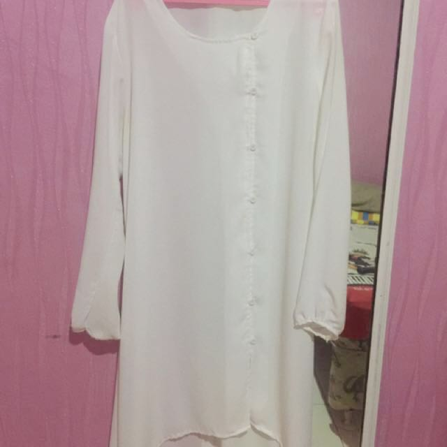 Chiffon Dress White