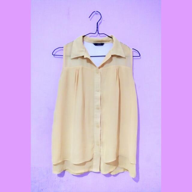 Chifon Yellow Top