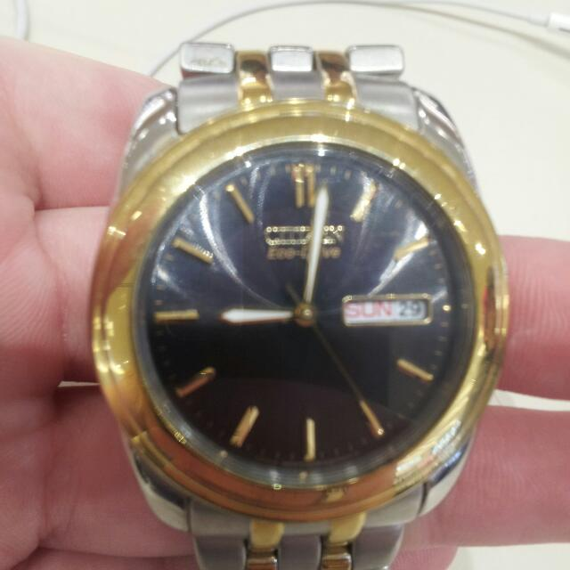 Citizen Eco-Drive Mens Two Tone Watch