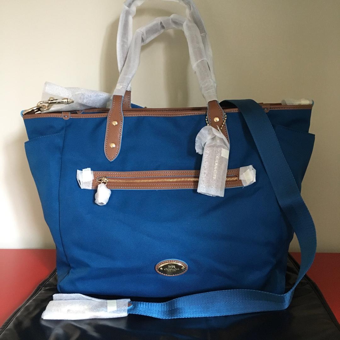 Coach Sawyer Baby Bag