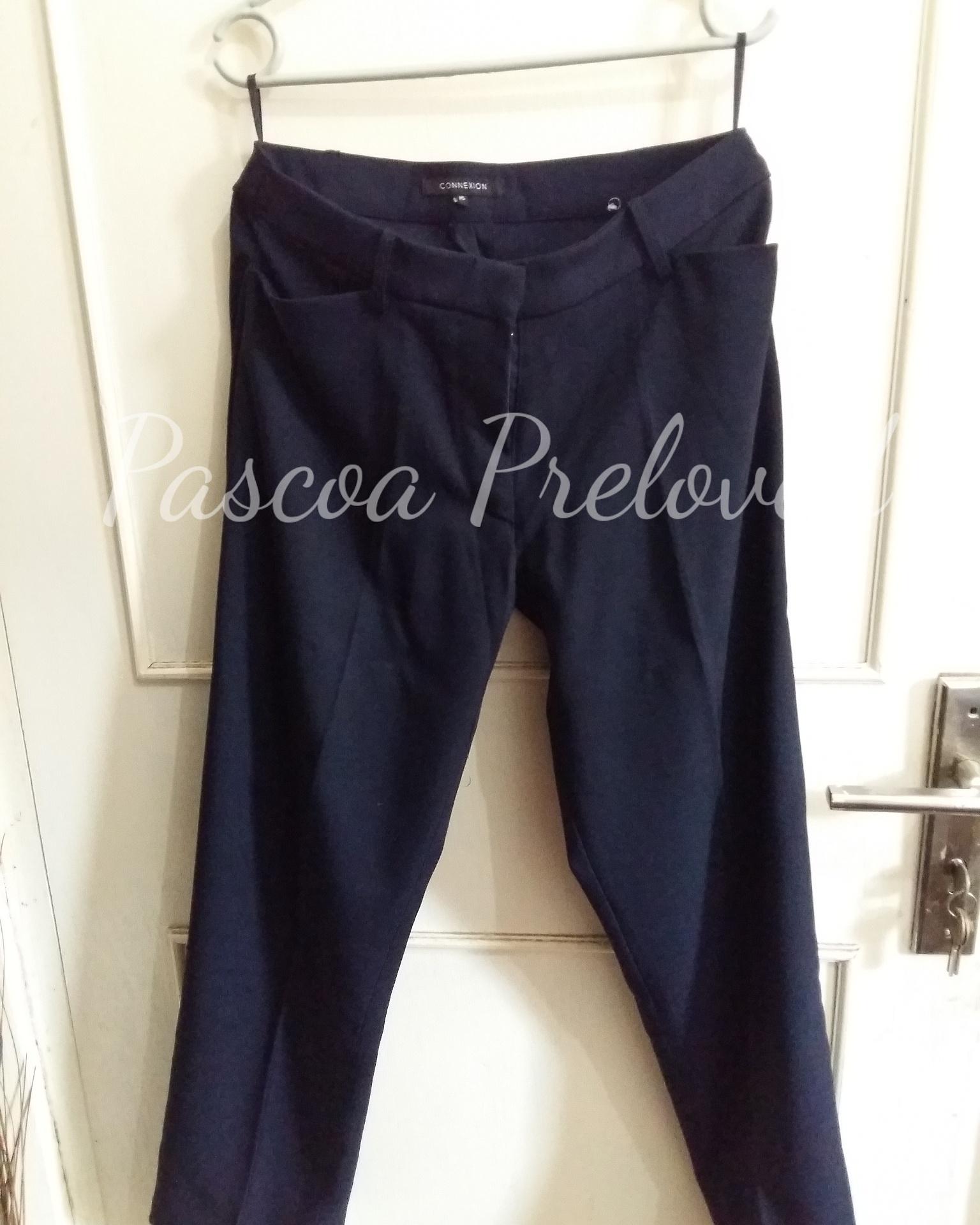 Connexion Plain Stright Pants - Navy