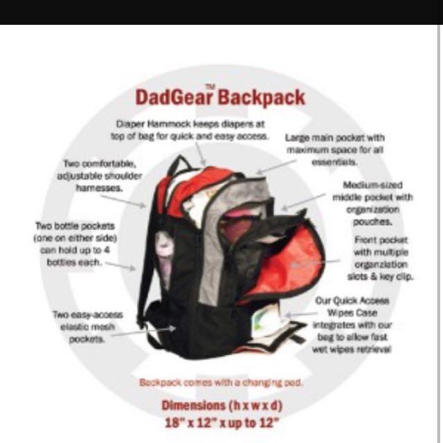 3720115012e Dadgear Backpack Diaper Bag