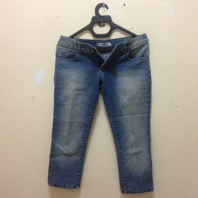 Dark Blue Knee Jeans 7/8