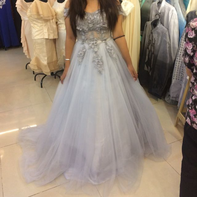 DEBUT/WEDDING/BIRTHDAY/LUXURY GRAY GOWN FOR RENTAL OR SALE