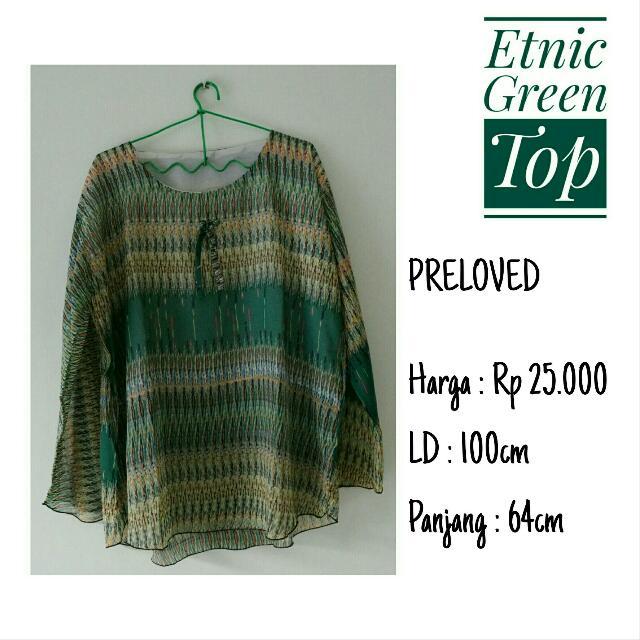 Etnic Green Top