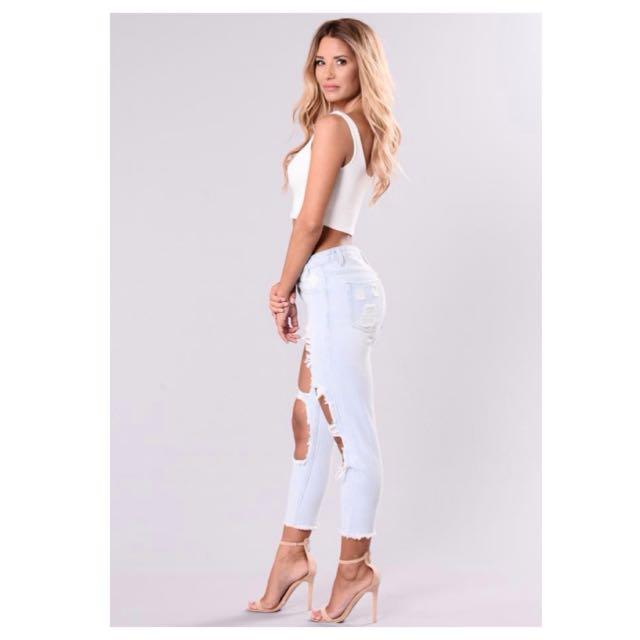 Fashionnova Money Maker Boyfriend Jeans Small