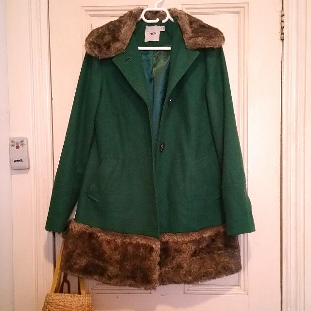 Forest Green Wool Coat